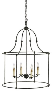 """Currey and Company 9160 Fitzjames 33""""H 4 Light Lantern"""
