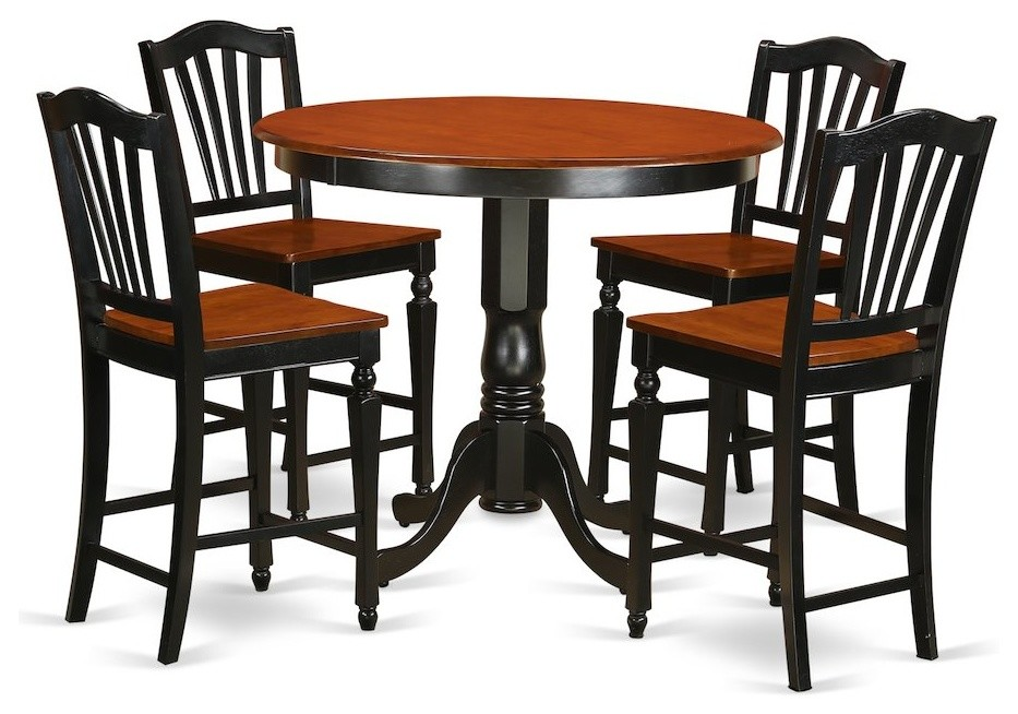 5 Pc Counter Height Dining Room Set Counter Height Table And 4 Kitchen Chairs Contemporary Dining Sets By Bisonoffice