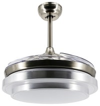ParrotUncle Modern Round LED Ceiling Fan With Foldable ...