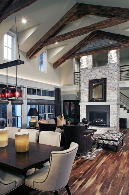 Modern Farmhouse  Farmhouse  Living Room  omaha  by