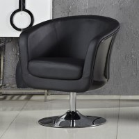 Aero Fiberglass and Leatherette Accent Chair ...
