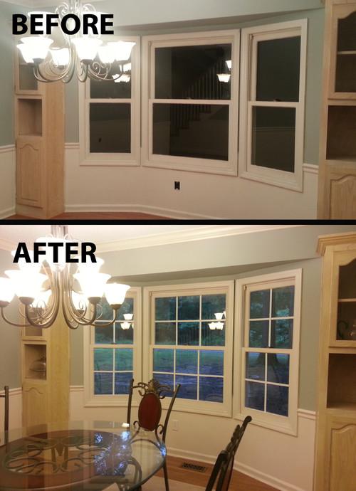 Quick  easy faux window panes
