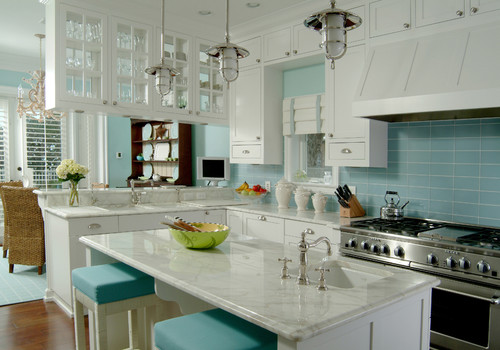 Kitchen ideas for the beach look camano custom cabinets blog for Tropical themed kitchen