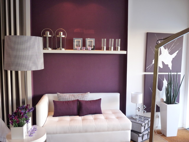 purple accent chairs sale steel dining color guide: how to work with plum