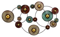 Circle Metal Wall Art - fetco home decor aisha geometric ...