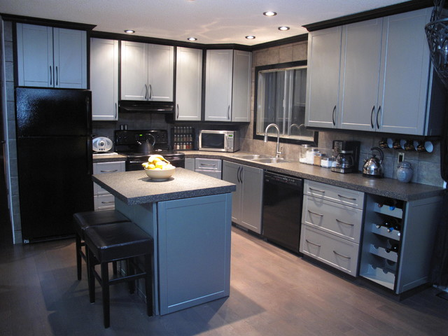 refacing kitchen cabinets before and after new decorating ideas cabinet - modern edmonton by reface ...