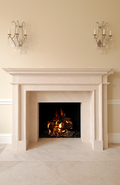 Elegant Fireplace  Traditional  Living Room  Boston  by Charlie Allen Renovations Inc