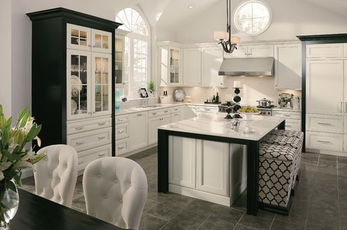 Black  White Kitchens The Tuxedo Trend