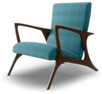 Monroe Mid Century Modern Chair - Lucky Turquoise Blue ...