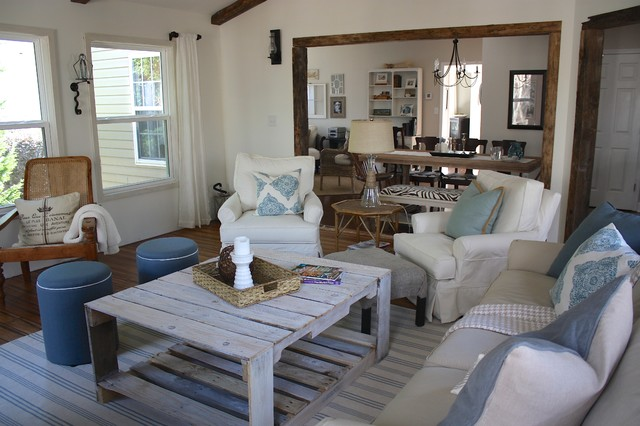 beach style decorating living room images of open plan kitchen rooms rustic sunroom charlotte by ally
