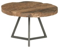 Timber Small Round Coffee Table - Rustic - Coffee Tables ...