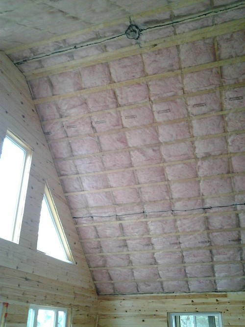 Cottage cathedral ceiling  which way to install tongueingroove pine