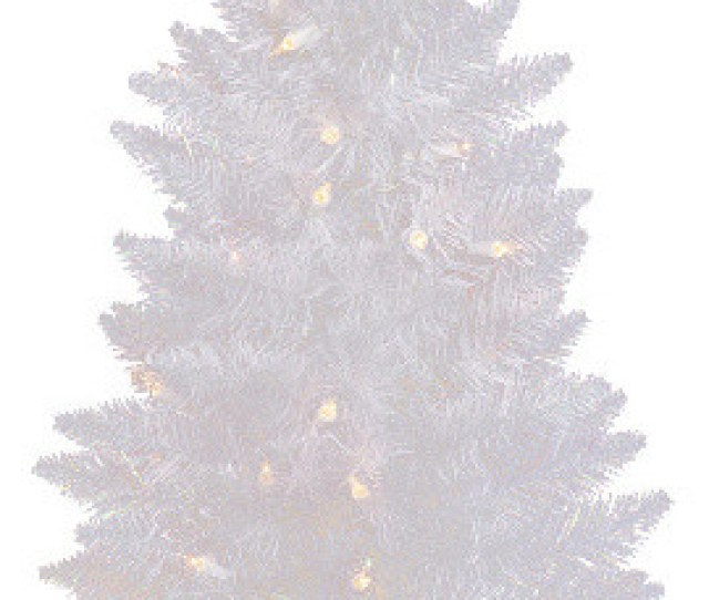 Pre Lit Led Sparkle Spruce Pencil Artificial Christmas Tree White Clear