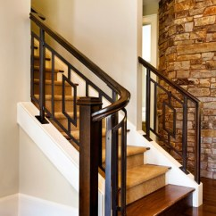 4 Chairs In Living Room Apartment Ideas On A Budget The American Dream - Transitional Staircase Portland ...