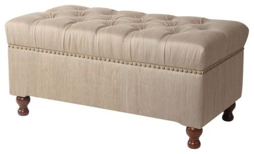 Addison Fabric Bedroom Storage Ottoman  Modern
