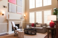 California Cool - Transitional - Living Room - Orange ...