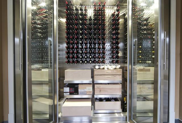 Vin de Garde Custom Stainless Steel Wine Cabinet