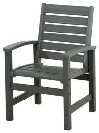 Eco-friendly Dining Chair in Slate Grey - Contemporary ...