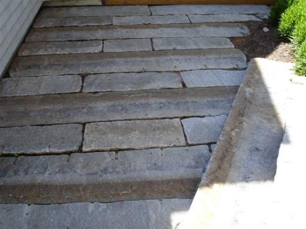 reclaimed granite curbing - traditional