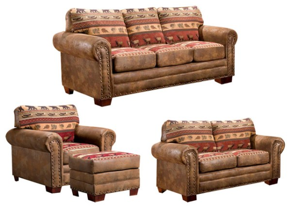 american furniture sofas living room Shop Houzz | American Furniture Classics Sierra Lodge, 4 Piece Set - Living Room Furniture Sets