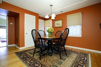 burnt orange living room ideas wall sayings for image painting dining - traditional ...