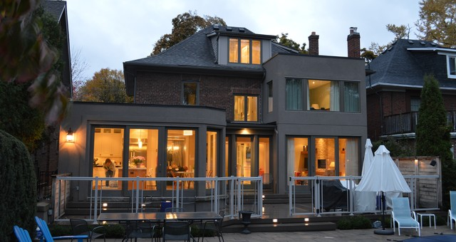 Modern Addition to Traditional Home