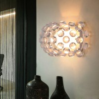Bling Bling 1-Light Wall Light with Acrylic Beads - Modern ...