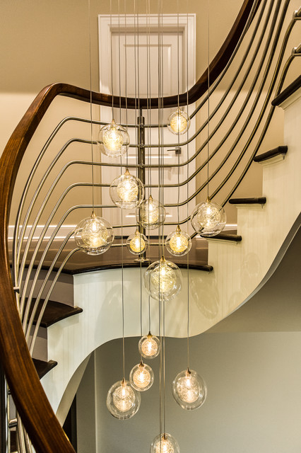 Multi Pendant Lighting Staircase