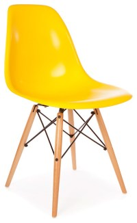 Molded Shell Eiffel Dining Side Chair - Midcentury ...