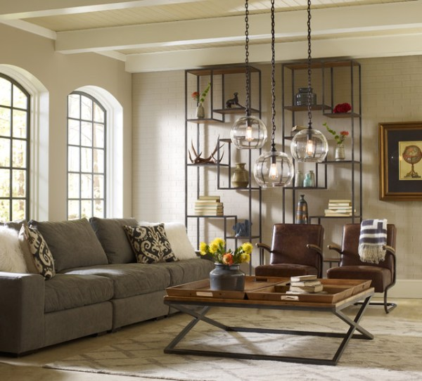 industrial design living room furniture Loft Livingroom Design - Industrial - Living Room - Los Angeles - by Zin Home