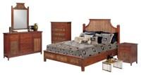 Fiji Tropical Rattan and Wicker 5 Piece Bedroom Set ...