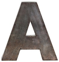"""Metal Alphabet Wall Decor Letter """"A"""" - Wall Letters - by ..."""