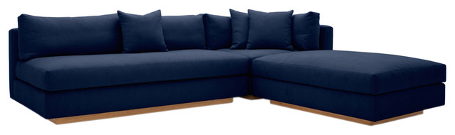 Versatility And Comfort Is The Key To Pch Sectional Sofa In Blue Offers Traditional Luxury With Its 3 Piece