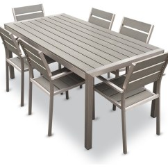 Dining Table And Chair Sets Oversized Swivel Chairs For Living Room Outdoor Aluminum Resin 7 Piece Set