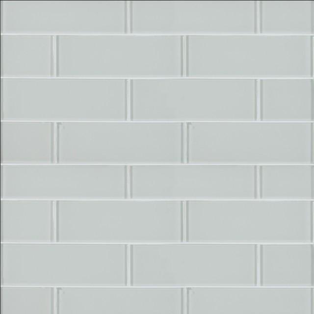 snowcap white 3x9 backsplash glass subway tile sample