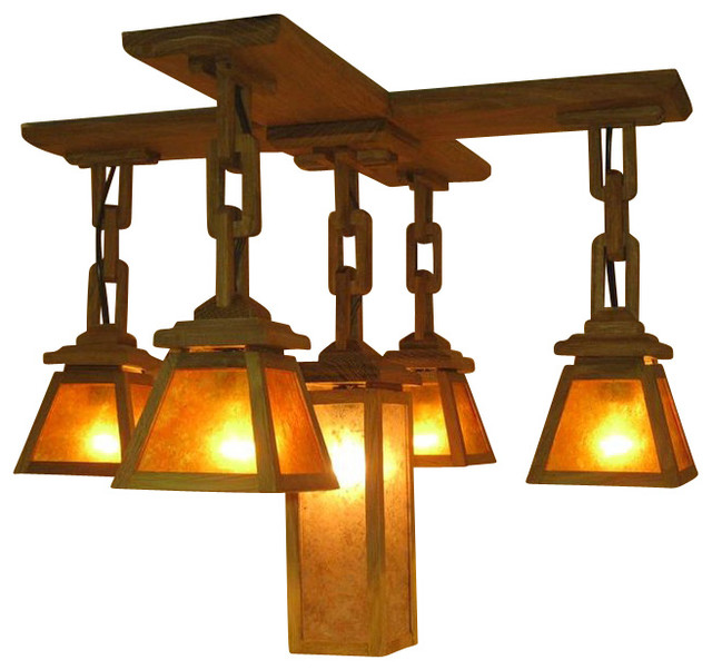 Adk Adirondack Craftsman Lighting 5 Shade Chandelier Chandeliers