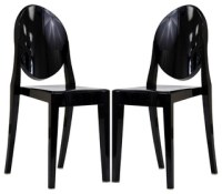 GHOST STYLE DINING CHAIRS SET OF 2 - Midcentury - Dining ...