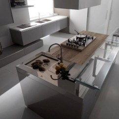Pendant Lighting Kitchen Island Clearance Grey And White Glass With Stainless Steel - Modern ...
