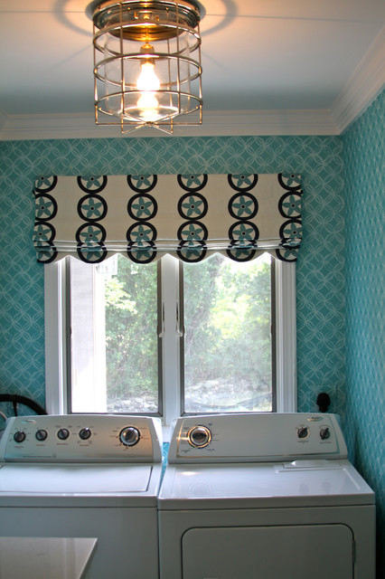 cute curtains for living room colors ideas summer home in little compton, ri - beach style laundry ...