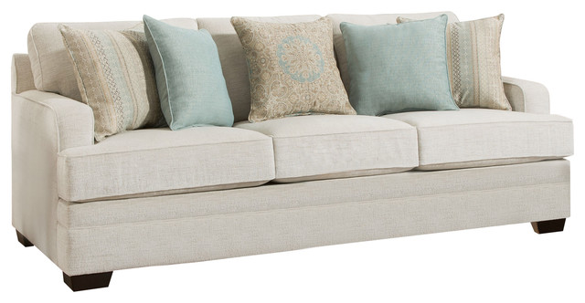 Simmons Upholstery Celine Parchment Sofa Transitional
