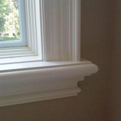 Window Treatment Ideas Small Living Room Blue Sofa Trim Detail