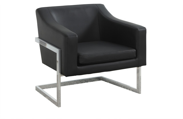 modern leather accent chairs wide office living room chrome faux chair contemporary armchairs and by furniture import export inc