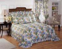 Plisse Hydrangea Floral Bedspread with Separate Sham ...