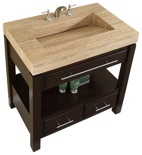 Silkroad 36 Modern Single Sink Bathroom Vanity Transitional Bathroom Vanities And Sink Consoles By Unique Online Furniture