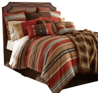 Navajo Striped Comforter Set, Twin - Southwestern ...