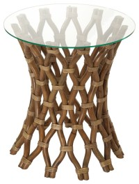 Hoop Rattan Side Table - Tropical - Side Tables And End ...