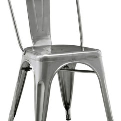 Cafe Chairs Metal Swoop Arm Chair Bravo Industrial Dining By Walker Edison Gunmetal Gray