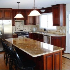 Hanging Kitchen Lights Over Island Table Set L-shaped Remodels - Traditional Other ...