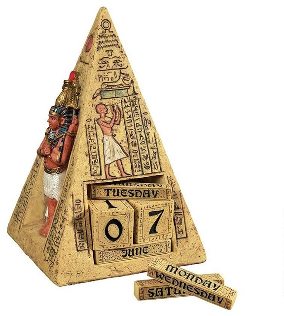 11W Ancient Egyptian Pyramid Collectible Desktop Calendar