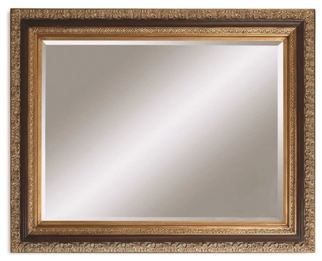 Bassett Mirror Traditional Wood Frame Antique Gold And